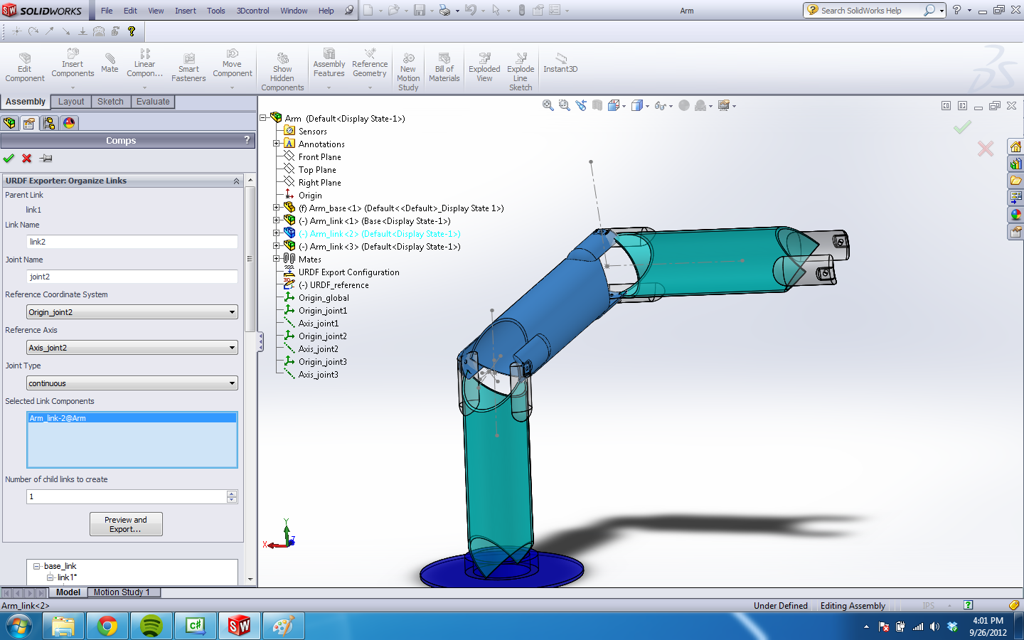 Announcing SolidWorks to URDF Exporter 1.5